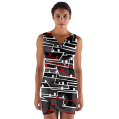 Stay in line Wrap Front Bodycon Dress