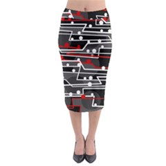 Stay in line Midi Pencil Skirt