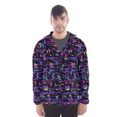 Purple galaxy Hooded Wind Breaker (Men)