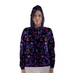 Purple galaxy Hooded Wind Breaker (Women)