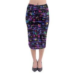 Purple galaxy Midi Pencil Skirt