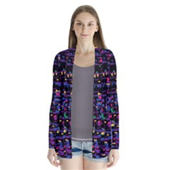 Purple galaxy Drape Collar Cardigan