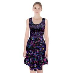 Purple Galaxy Racerback Midi Dress