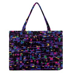 Purple galaxy Medium Zipper Tote Bag