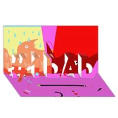 Mythology  #1 DAD 3D Greeting Card (8x4)
