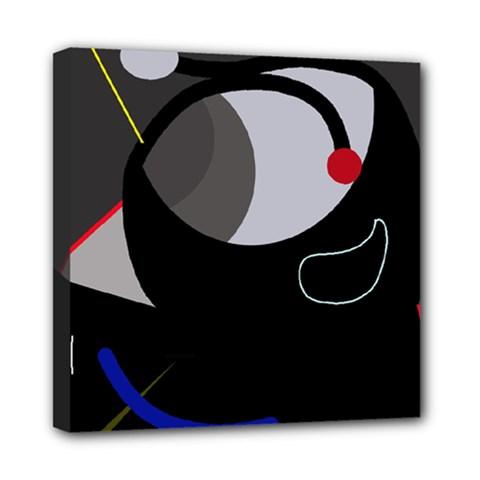 Gray bird Mini Canvas 8  x 8