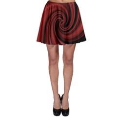 Elegant red twist Skater Skirt