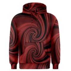 Elegant red twist Men s Pullover Hoodie