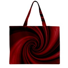 Elegant red twist Medium Tote Bag