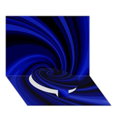 Blue Decorative Twist Circle Bottom 3d Greeting Card (7x5)