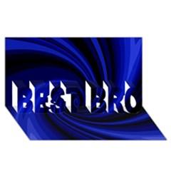 Blue decorative twist BEST BRO 3D Greeting Card (8x4)
