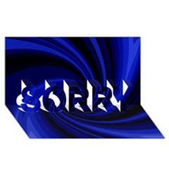 Blue decorative twist SORRY 3D Greeting Card (8x4)