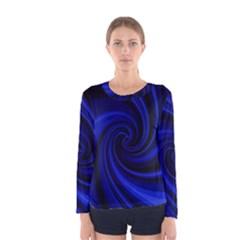 Blue decorative twist Women s Long Sleeve Tee
