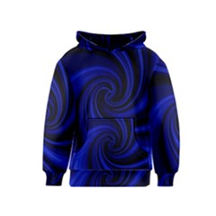Blue decorative twist Kids  Pullover Hoodie
