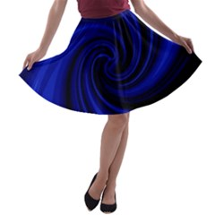 Blue decorative twist A-line Skater Skirt