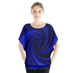 Blue decorative twist Blouse