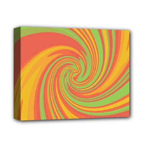 Green and orange twist Deluxe Canvas 14  x 11