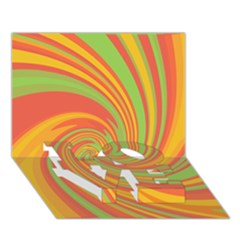 Green and orange twist LOVE Bottom 3D Greeting Card (7x5)
