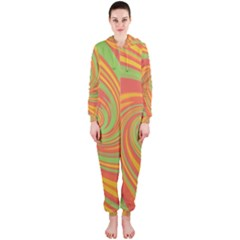 Green and orange twist Hooded Jumpsuit (Ladies)