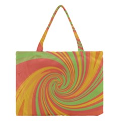 Green And Orange Twist Medium Tote Bag