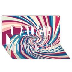 Lollipop Laugh Live Love 3D Greeting Card (8x4)