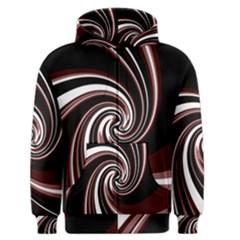 Decorative twist Men s Zipper Hoodie