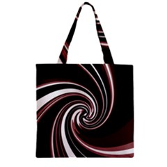 Decorative twist Zipper Grocery Tote Bag