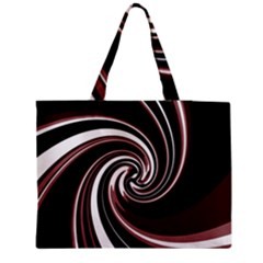 Decorative twist Medium Zipper Tote Bag