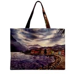 Italian Lake Garda Zipper Mini Tote Bag