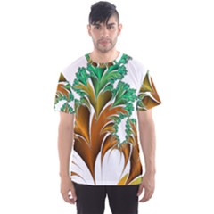 Colorful Fractal Feather Men s Sport Mesh Tee