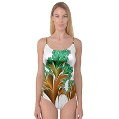 Colorful Fractal Feather Camisole Leotard