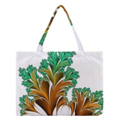 Colorful Fractal Feather Medium Tote Bag