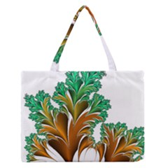Colorful Fractal Feather Medium Zipper Tote Bag