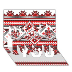 Consecutive Knitting Patterns Vector Miss You 3D Greeting Card (7x5)