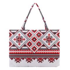 Consecutive Knitting Patterns Vector Medium Tote Bag