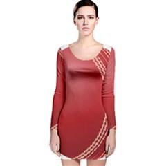 Cricket Ball Long Sleeve Velvet Bodycon Dress