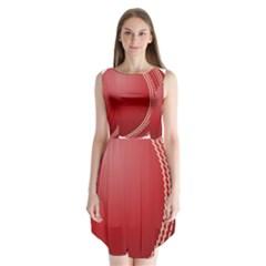 Cricket Ball Sleeveless Chiffon Dress