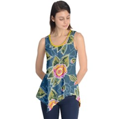 Floral Fantsy Pattern Sleeveless Tunic