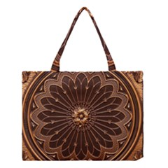 Decorative Antique Gold Medium Tote Bag