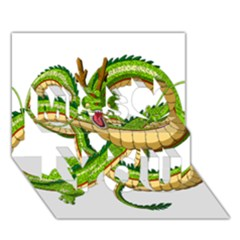 Dragon Snake Miss You 3D Greeting Card (7x5)