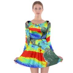 Earth Long Sleeve Skater Dress