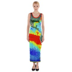 Earth Fitted Maxi Dress