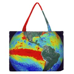 Earth Medium Zipper Tote Bag