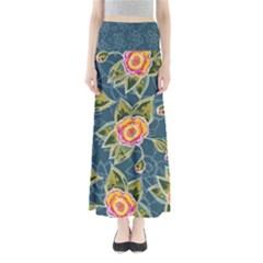 Floral Fantsy Pattern Women s Maxi Skirt