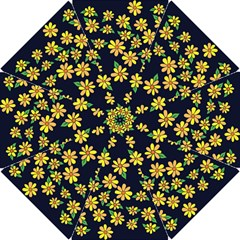 Daisy Flower Pattern For Summer Hook Handle Umbrellas (small)