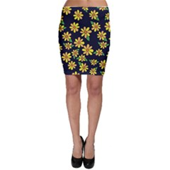 Daisy Flower Pattern For Summer Bodycon Skirt