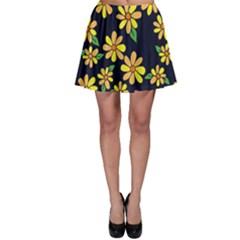 Daisy Flower Pattern For Summer Skater Skirt