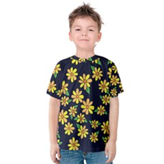 Daisy Flower Pattern For Summer Kids  Cotton Tee