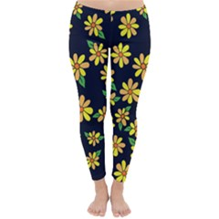 Daisy Flower Pattern For Summer Winter Leggings