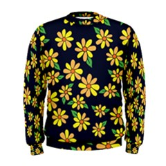 Daisy Flower Pattern For Summer Men s Sweatshirt